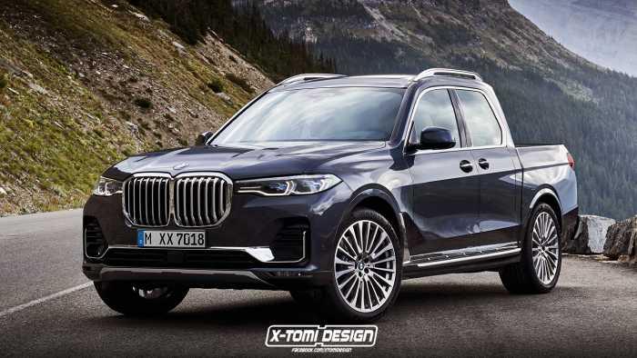 بالصورة: الكشف عن شاحنة BMW X7 Pickup