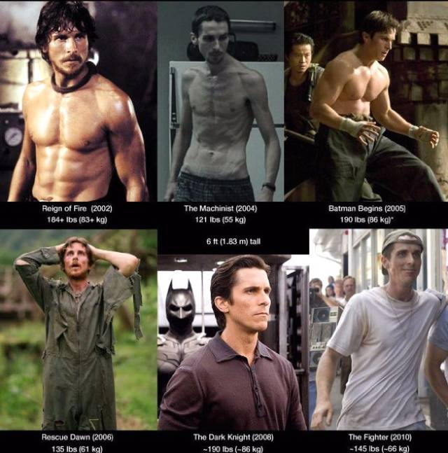 بالصور: تحولات جسدية  للممثل كريستيان بيل خلال 13 عاما