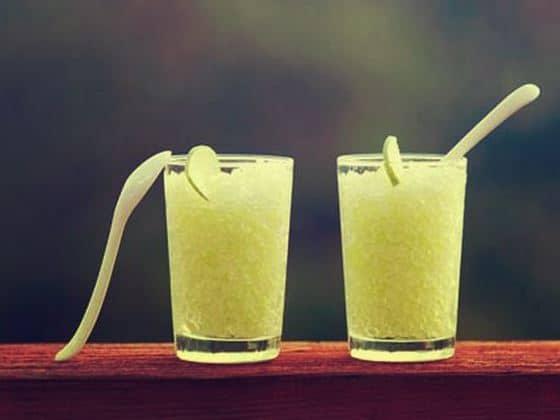 تحضير عصير الشمام بالليمون