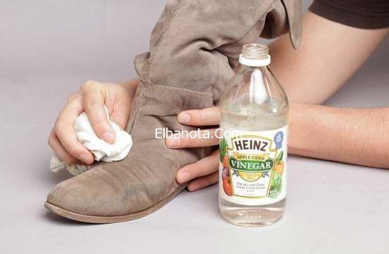 وصفة الخل لتنظيف الأحذية الشامواه