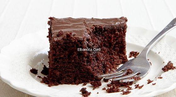 كيكة الشوكولاتة سهلة , طريقة عمل كيكة الشيكولاتة خفيفة