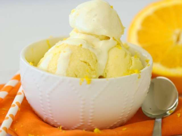 آيس كريم منزلي , وصفة آيس كريم البرتقال سهلة