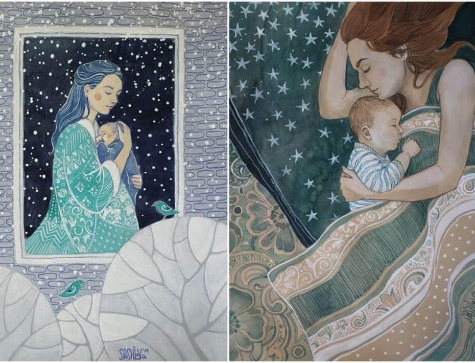 9 رسومات توضح عطاء الأمهات لأولادهم بشكل رائع