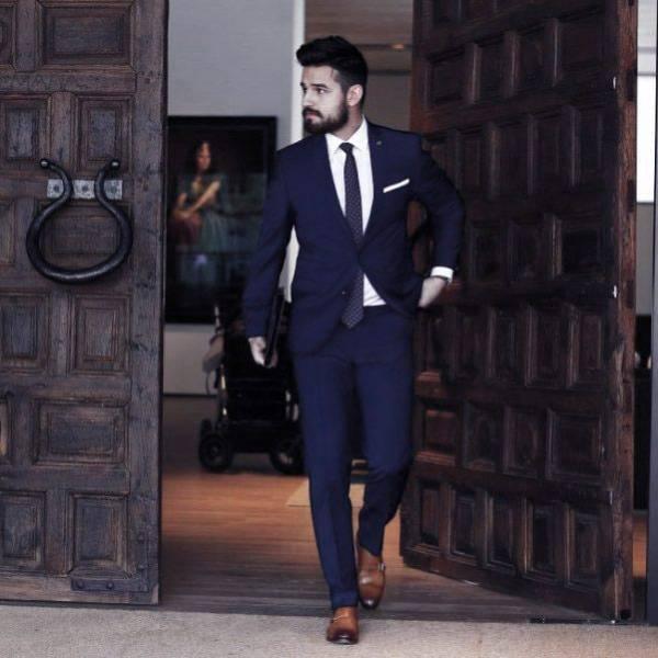8ce7baa54 أشيك 10 بدل رجالي كحلي مع الأحذية البني - أفكار أزياء للرجال | بنوته ...